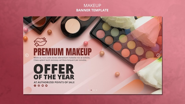 Modelo de banner de oferta especial de maquiagem