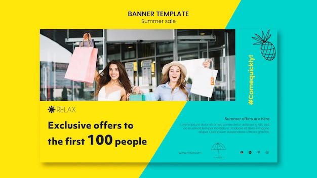 Modelo de banner de ofertas exclusivas