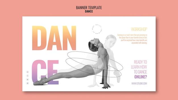 Modelo de banner de oficina de dança