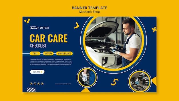Modelo de banner de oficina mecânica