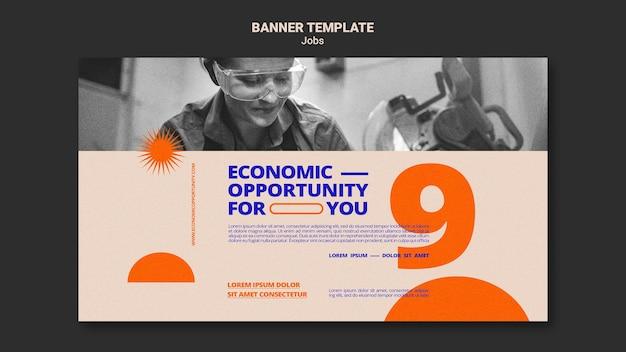 Modelo de banner de oportunidade de emprego