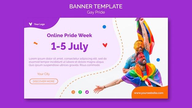 Modelo de banner de orgulho gay