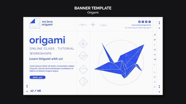 Modelo de banner de origami