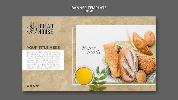 Modelo de banner de pão fresco