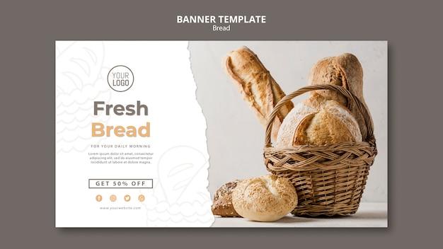 Modelo de banner de pão
