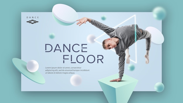 Modelo de banner de pista de dança