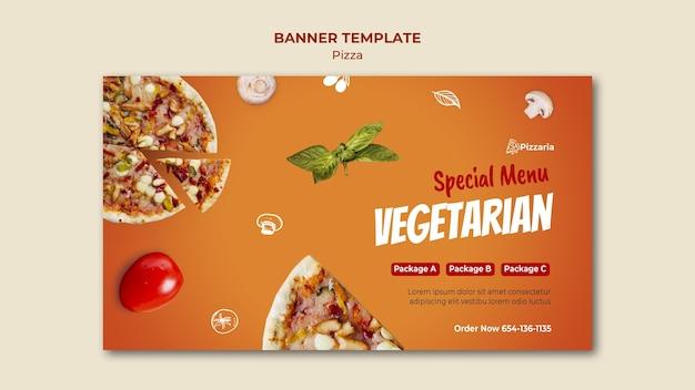 Modelo de banner de pizza