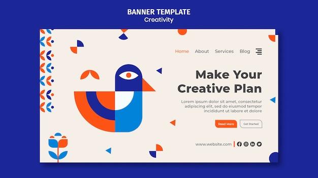 Modelo de banner de plano criativo