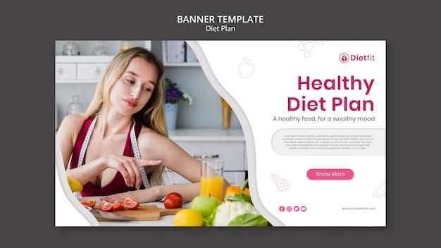 Modelo de banner de plano de dieta