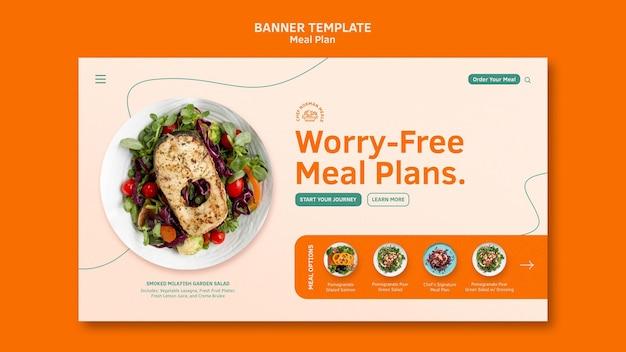 Modelo de banner de planos de refeição