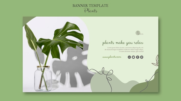 Modelo de banner de plantas