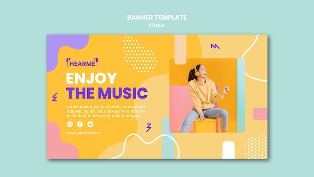 Modelo de banner de plataforma de música