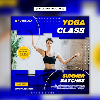 Modelo de banner de post de mídia social de ioga