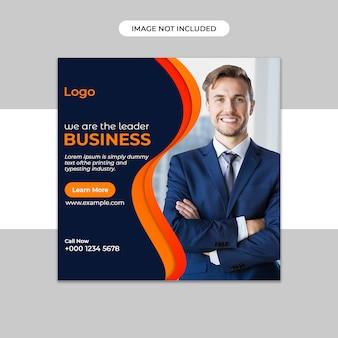 Modelo de banner de postagem de instagram de marketing on-line