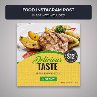 Modelo de banner de postagem de instagram de mídia social de alimentos
