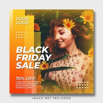 Modelo de banner de postagem de mídia social black friday