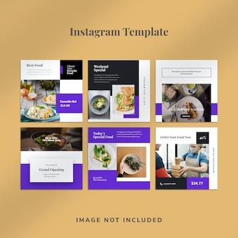 Modelo de banner de postagem de mídia social de alimentos