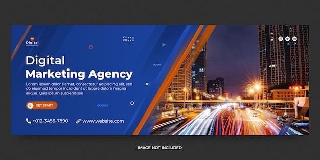 Modelo de banner de postagem de mídia social de marketing digital para web e facebook