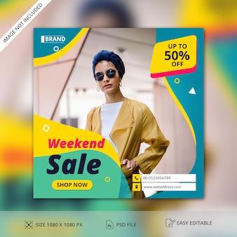 Modelo de banner de postagem de venda