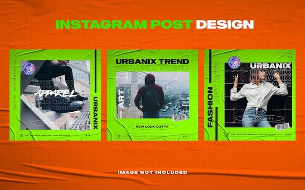Modelo de banner de postagem do instagram de móveis azul escuro