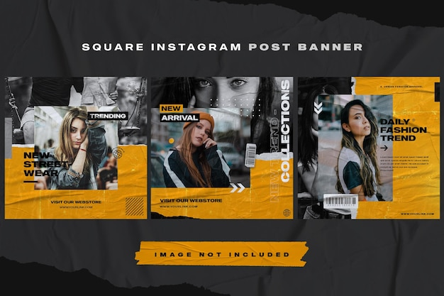 Modelo de banner de postagem do instagram para móveis