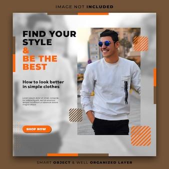 Modelo de banner de postagem do instagram para promoção de cardápio de comida