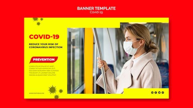 Modelo de banner de prevenção de coronavírus