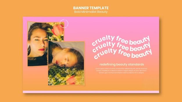 Modelo de banner de produtos de beleza orgânicos