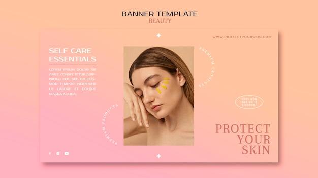 Modelo de banner de produtos para a pele