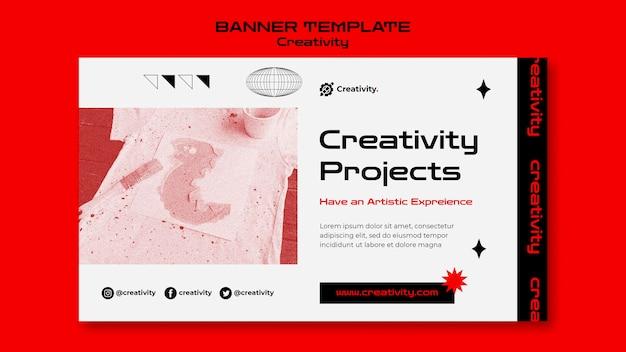 Modelo de banner de projetos de criatividade