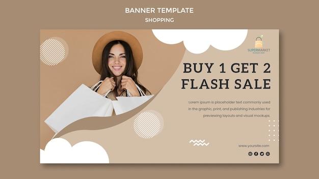Modelo de banner de promoção comercial
