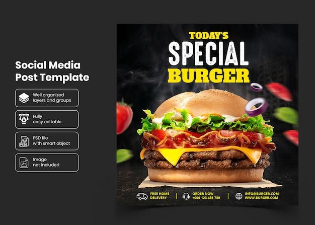 Modelo de banner de promoção de alimentos para mídia social