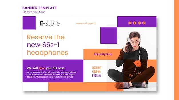Modelo de banner de promoção de loja eletrônica
