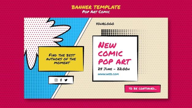 Modelo de banner de quadrinhos para congressos