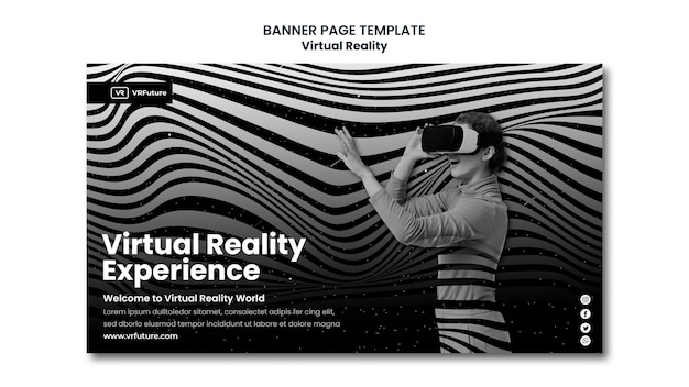 Modelo de banner de realidade virtual