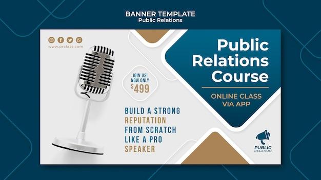 Modelo de banner de relações públicas