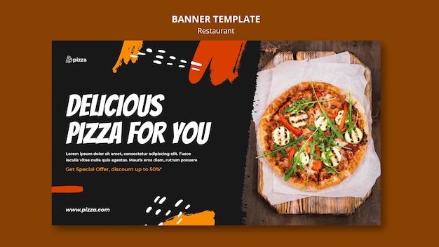 Modelo de banner de restaurante de comida italiana