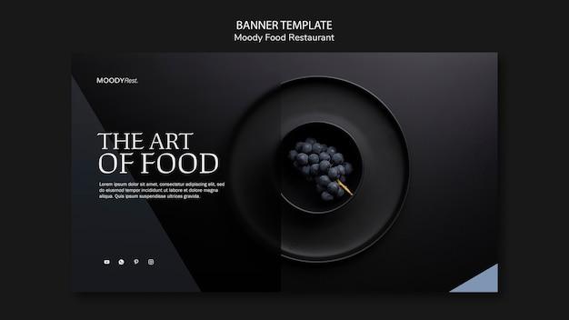 Modelo de banner de restaurante de comida temperamental