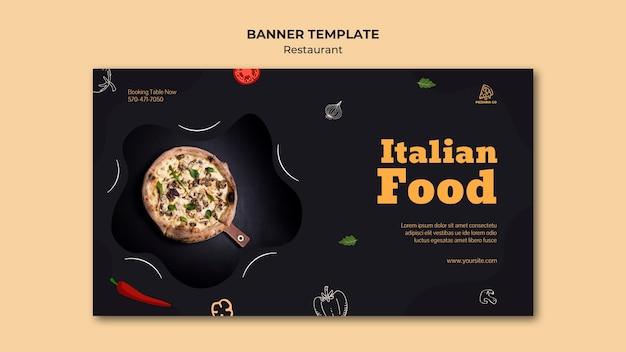Modelo de banner de restaurante italiano