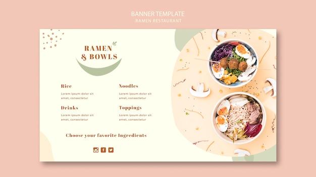 Modelo de banner de restaurante ramen