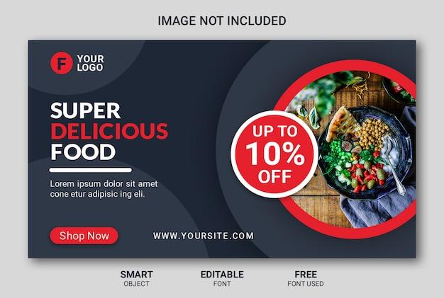 Modelo de banner de restaurante web