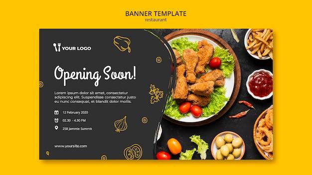 Modelo de banner de restaurante