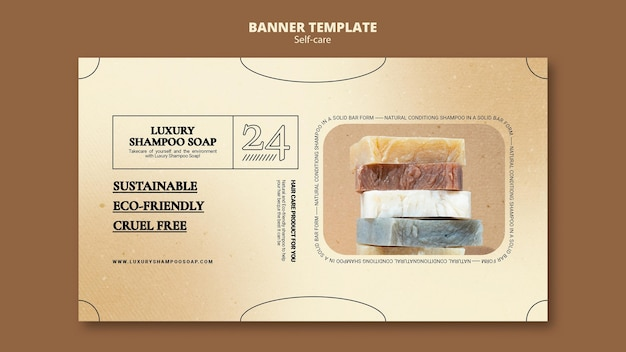 Modelo de banner de sabonete de xampu