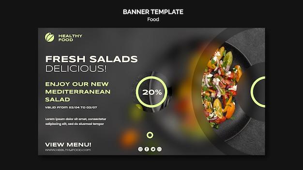 Modelo de banner de saladas frescas