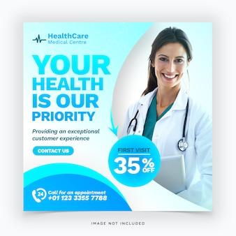 Modelo de banner de saúde médico