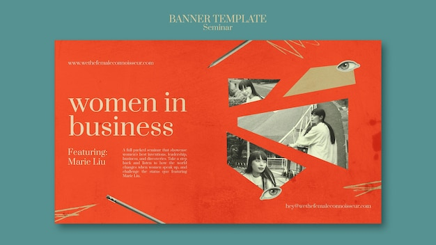 Modelo de banner de seminário de feminismo