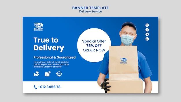 Modelo de banner de serviço de entrega