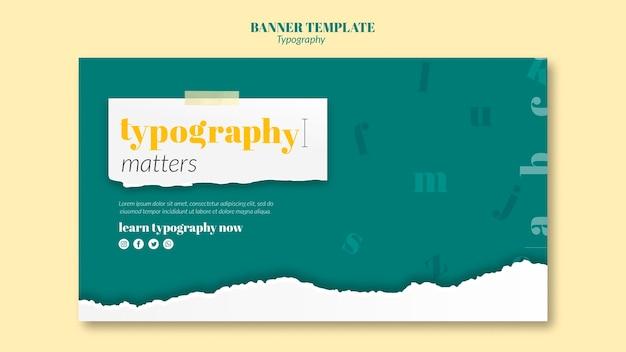 Modelo de banner de serviço de tipografia