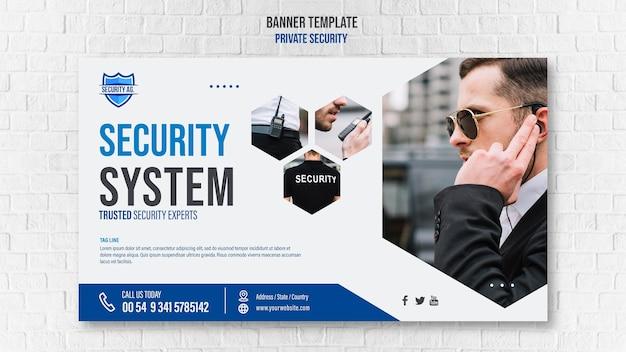 Modelo de banner de serviços de segurança