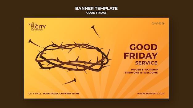 Modelo de banner de sexta feira santa